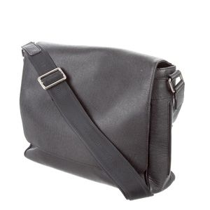 Louis Vuitton All Leather Messenger Bag.